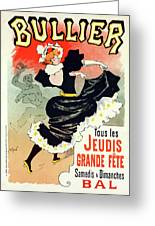 Poster For Le Bal Bullier. Meunier, Georges 1869-1942 Greeting Card