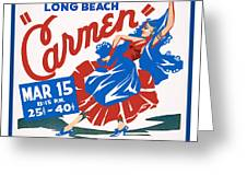 Poster For Production Of Carmen Greeting Card