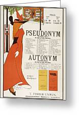 Poster For 'the Pseudonym And Autonym Libraries' Greeting Card
