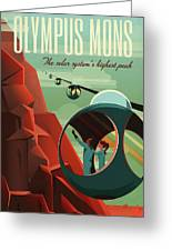 Poster For Tours Of Olympus Mons Greeting Card
