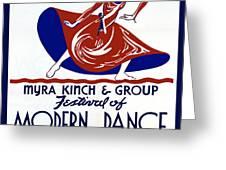 Poster Modern Dance Festival Greeting Card