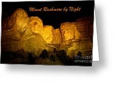 Poster Of Mount Rushmore Greeting Card