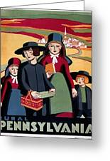 Poster Pennsylvania, C1938 Greeting Card