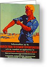 Poster Promoting Emigration To Canada Greeting Card