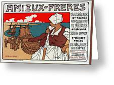 Poster Sardines, 1899 Greeting Card