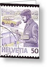 Postman Delivering Mail  Greeting Card