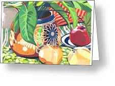 Pot With Onions Greeting Card