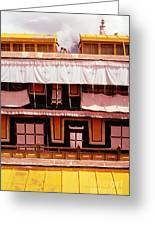 Potala Palace Rooftop - Lhasa Tibet Greeting Card