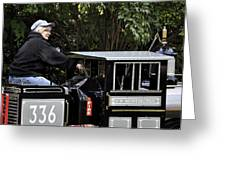 Potawatomi Zoo Miniature Train Engine South Bend Indiana Usa Greeting Card