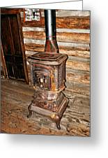 Potbelly Stove Greeting Card by Marty Koch
