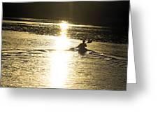 Potomac Kayaker Sunset Greeting Card
