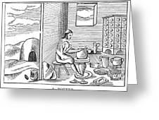 Potter, 1659 Greeting Card