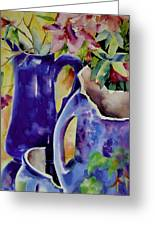 Pottery And Flowers Greeting Card