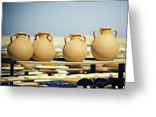 Pottery Market Greeting Card