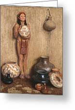 Pottery Vendor Greeting Card
