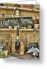 Potting Thyme Greeting Card