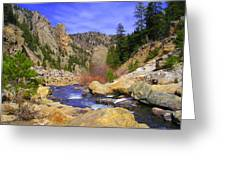 Poudre Canyon Greeting Card