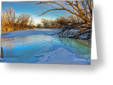 Poudre Ice Greeting Card by Baywest Imaging