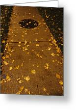 Poured Gold Greeting Card by Guy Ricketts