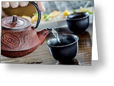 Pouring Japanese Tea Greeting Card