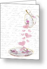 Pouring My Heart Out Greeting Card by Rebecca Cozart