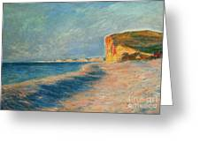 Pourville Near Dieppe Greeting Card by Claude Monet