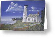 Poverty Island Lighthouse Greeting Card