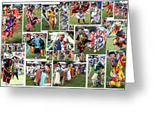 Pow Wow Collage Greeting Card