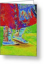 Pow Wow Dancing Greeting Card