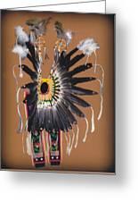 Pow Wow Regalia - Orange Greeting Card