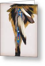 Pow Wow Regalia - White Greeting Card