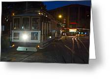 Powell And Market Trolley Greeting Card
