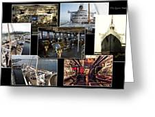 Power Collage Queen Mary Ocean Liner Long Beach Ca 01 Greeting Card