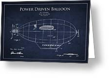 Power Driven Balloon Patent Greeting Card