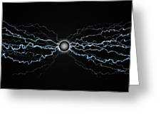 Power Field Black Greeting Card