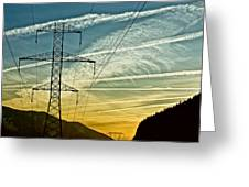 Power In The Sky Greeting Card