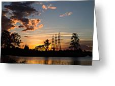 Power In The Sunset Greeting Card
