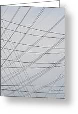 Power Lines Fill The Sky Greeting Card