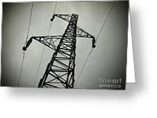Power Pole Greeting Card