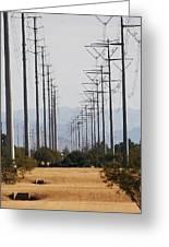 Power Poles  Greeting Card