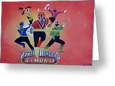 Power Rangers Samurai Greeting Card