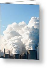 Power Station Plumes. Greeting Card