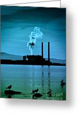 Power Station Silhouette Greeting Card by Craig B