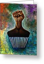 Power To The Afro Pick Greeting Card