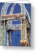 Power Tower Cedar Point Greeting Card