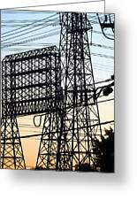 Power Tower Lines Greeting Card