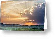 Powerful Sunbeams Greeting Card