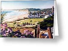 Powerhouse Beach Del Mar Lilac Greeting Card