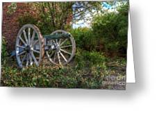 Powis Castle Cannon Greeting Card