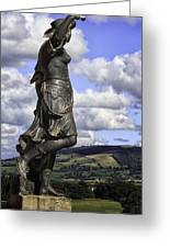 Powis Castle Statuary Greeting Card